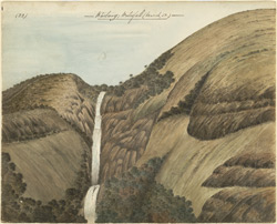 Waterfall at Kartary, near Ootacamund.  March 1852